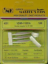 Czech Master 1/48 VDM HELICE pour MESSERSCHMITT BF 109E # 4051 *