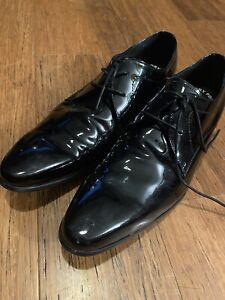 Airflex Dapper patent leather mens shoes black