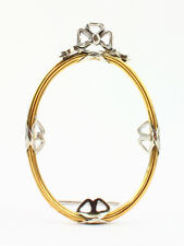 """Oval silver photo frame """"Bow"""""""