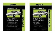 2001 Toyota Camry Solara Shop Service Repair Manual Book Engine Drivetrain OEM