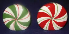 Vintage Christmas Peppermint Candy Salt & Pepper Shakers Kmart New Old Stock