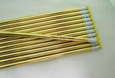 """12 Glitzy """"Super Rich Foil""""  Personalized Pencils"""