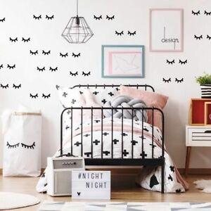 Kids Room Decoration Eyelash Wall Stickers Baby Rooms Nordic Girl Bedroom Decor