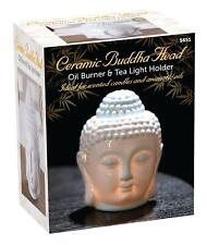 Ceramic Buddha Head Oil Burner Tea Light Holder Aromatic Scent