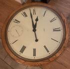 Vintage+Howard+Miller+Clock+Coffee+Table+Wood+Grain+Gold+EUC