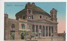 Malta, Musta Dome Postcard, B145