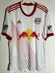 ADIDAS AUTHENTIC MLS JERSEY NEW YORK RED BULLS TEAM WHITE MEN'S SIZE L