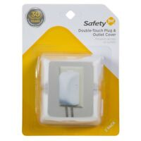 Safety 1St 10404 Double-Touch Plug & Outlet Cover, White, 2-Pack