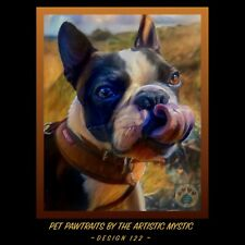 Custom Pet Portrait Painting Of Your Dog Or Cat | Christmas / Memorial Gift