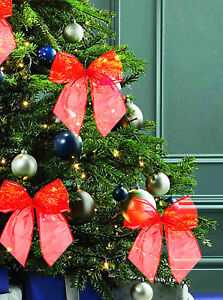 Large Wired BOW Wedding Xmas Christmas Present Tree Wreath Gift Decoration