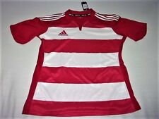 Maillot Entrainement Adidas Rugby Climatite XXXL Rouge Rayures Blanches