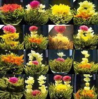 16 KINDS BLOOMING FLOWER FLOWERING JASMINE GREEN HANDMADE TEA BALL ON SALE