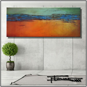 ABSTRACT PAINTING MODERN CANVAS WALL ART Framed, Large, US ELOISExxx