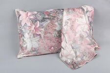 100% Silk Pillowcase Pink with Lily Print PC35