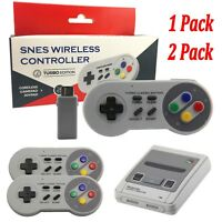 2pcs Wireless Gamepad Game Controller For Nintendo SNES NES Wii Mini Console