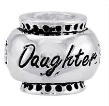 "DaVinci Beads ""Daughter"" Silver Bead Db16-2 - Buy 2 or More DaVinci, Save 10%"