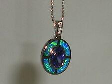 Handgefertigt Echte Edelstein-Halsketten & -Anhänger mit Opal für Damen