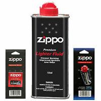 Zippo Lighter Fuel Fluid Petrol Flint Wicks