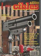 CIBLES N°271 GC 54 CAL. 12 / PARA ORDNANCE 45 / DESERT EAGLE 50 /SNIPER ELEPHANT