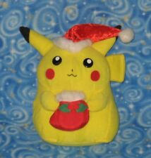 Vintage Pikachu Christmas Holiday Pokemon Plush Doll Toy Banpresto Japan 1999