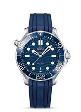 OMEGA SEAMASTER CHRONOMETER BLUE RUBBER STRAP MEN'S WATCH 210.32.42.20.03.001