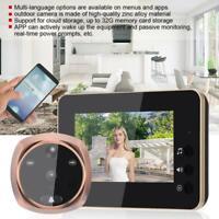4.3in LCD HD 160° Mirilla Visor Timbre de Puerta WIFI 720P Camera Seguridad