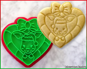 Kangaroo Christmas Cookie Cutter Australian Animals Baking Supplies Fondant Tool