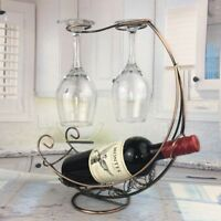 Stylish Wine Bottle Hanging Rack Glass Holder Stand Fashion Home Furniture Decor