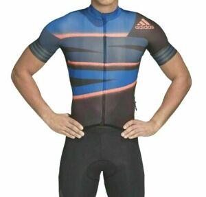 NEW Adidas Men Adistar Cycling Ciclismo Tech Indigo Jersey FJ6572 2XL XXL