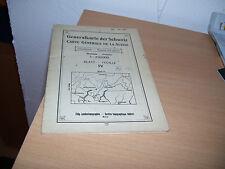Generalkarte der Schweiz Landestopographie Bern 1936 Carte Generale de la Suisse
