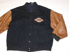 VINTAGE 1998 FORD F-SERIES 50 YEARS JACKET! WOOL/REAL LEATHER SLEEVES! CANADA XL