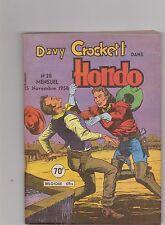 Davy Crockett HONDO n°28 - novembre 1958. Editions LUG. Superbe état