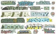 HO CONTEMPORARY GRAFFITI DECALS ASSORTMENT 69 FREE DOMESTIC SHIPPING