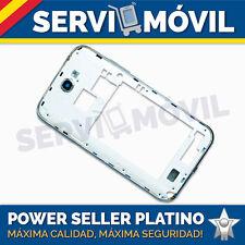 Chasis Carcasa Blanco Marco Central Cubierta para Samsung Galaxy Note 2 N7100