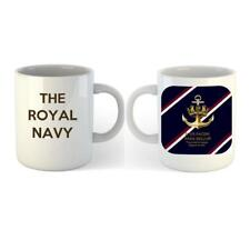 NEW Royal Navy Ceramic Mug  Crown and Anchor Badge on Royal Navy Tie Colours