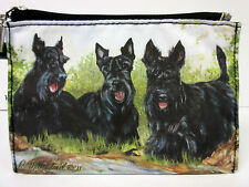 New Scottish Terrier Dog Zippered Handy Pouch Ruth Maystead Coin Purse 3 Dogs