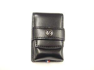 S.T. Dupont Black Leather Lighter Case For L2, L8, Minijet, Maxijet (180024)