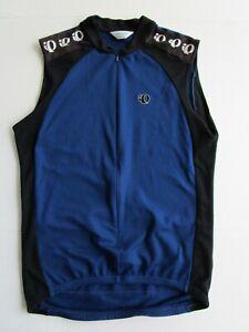 Men's Pearl Izumi Cycling Vest Blue Black 3/4 Zip Mesh Jersey Medium