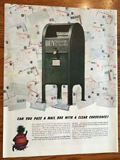V Mail Use Promoted by Dole Pineapple   WWII  Ad