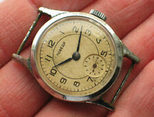 Early soviet POBEDA watch Rare Vintage Dial ZIM Factory *SERVICED* '1950s