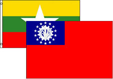 3x5 3'x5' Wholesale Combo Set Myanmar Burma Old & New 2 Flags Flag