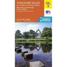 Yorkshire Dales - Southern & Western Areas, Whernside, Ingleborough & Pen-y-Ghent by Ordnance Survey (Sheet map, folded, 2015)