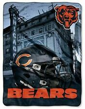 "CHICAGO BEARS NFL LICENSED SOFT WARM THROW BLANKET 60"" X 80 NEW 2 designs avail."