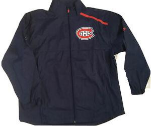 Fanatics Men's Montreal Canadiens Authentic Pro Rinkside Full-Zip Jacket XL Blue