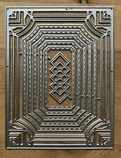 Metal Cutting Dies - Fancy NESTING RECTANGLES Stitched Edge - Art Deco (T51)