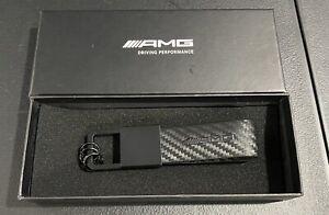 Mercedes-Benz AMG Keychain Carbon Black 10cm Genuine New