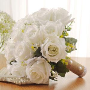 Wedding Bride Bouquet Bouquet Bridesmaid Bridal Flowers Artificial