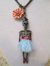 New Auth Betsey Johnson Ivy League Skeleton Dancer Sailor Long Pendant Necklace