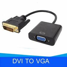 1080p DVI-D 24+1 Pin Male to VGA 15Pin Female Active Cable Adapter Converter