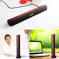 Hi-Fi USB Soundbar for Monitor TV PC Speaker Home Theatre Audio Stereo Speaker